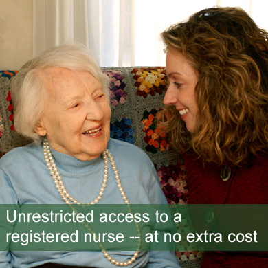 Unrestricted access to a Registered Nurse - at no extra cost. In Home Health Care Services NJ